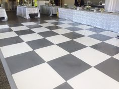 Silver & white painted wedding dance floor at Cassia on Sat 21 Feb 2015