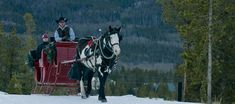 winter sleigh rides and dinner in Colorado