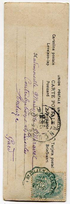 Vintage French postcard bookmark