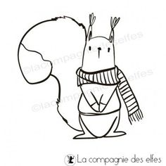 tampon écureuil, la compagnie des elfes.
