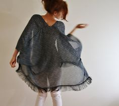 kimono cardigan black fringe Kimono robe by WildRoseAndSparrow