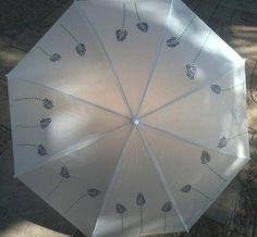 Paraguas pintados a mano por marca Peces