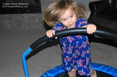 Fun Indoor Games for Kids Using a Mini Trampoline - B-Inspired Mama