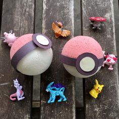 2 Pokémon Bath Bombs- SURPRISE toy inside- Battle Pack-Pokébomb: Blueberry/Vanilla Scent- Gift Set- Bath Bomb Pokéball -Pokémon Go by GypsyFaeCreations on Etsy https://www.etsy.com/listing/229627328/2-pokemon-bath-bombs-surprise-toy-inside