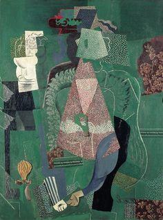 'Portrait de jeune fille' (1914) by Pablo Picasso cubisme