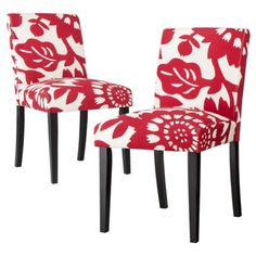 Uptown Dining Chair Gerber Cherry - Set of 2 from target zaz, u should get these for your dining room. They would look so gooD! ( lay a dishtowel under the kids when they eat! Dinning Table, Dining Chair Set, Dining Rooms, Find Furniture, Home Furniture, Office Chairs Canada, Dining Room Inspiration, Cool Chairs, Upholstered Dining Chairs