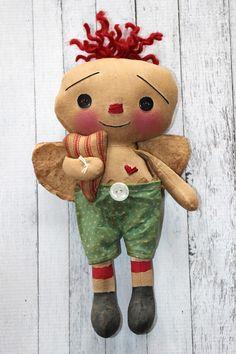 Valentine's Day Cupid Raggedy Andy Primitive Ragdoll