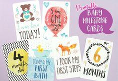 Printable Baby Milestone Cards by Mockeri on Etsy