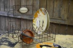 VINTAGE STYLE FRENCH WIRE DISH RACK DRAINER DRYING RACK French Country Kitchen $89.99 Free Shipping