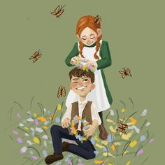 Anne and gilbert😆 . Gilbert Blythe, Anne Shirley, Fanart, Cartoon Drawings, Art Drawings, Gilbert And Anne, Anne White, Percy Jackson Quotes, Anne With An E
