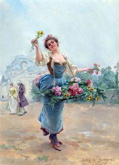 Vintage paintings / Милые цветочницы: прекрасные «девушки-цветы» на картинах художников - Ярмарка Мастеров - ручная работа, handmade