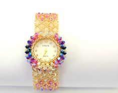 watches for womens Unique Crystal Luxury Flower Pink Ladies