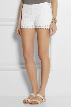 See by Chloé | Floral crocheted cotton shorts | NET-A-PORTER.COM