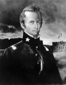 William B. Travis:  Born August 1, 1809 in Saluda County, South Carolina to Mark and Jemima Travis,  Died March 6, 1836,  Married Rosanna Cato on October 26, 1828  2 children  Most famous for being the a commander at the Alamo and dying there