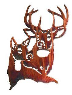 5512141565:Summer Romance-Deer Wall Sculpture