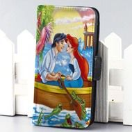 ariel and eric at ship disney the little mermaid wallet case for iphone 4,4s,5,5s,5c,6 and samsung galaxy s3,s4,s5