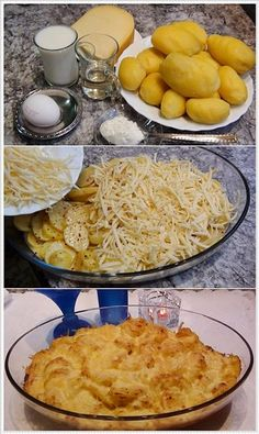 kaşarlı patates Oven Dishes, Potato Dishes, Dessert Salads, Dessert Drinks, Russian Recipes, Turkish Recipes, Ramadan Desserts, Vegetable Recipes, Food Hacks