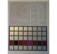 Jesús Rafael Soto  Fucsia y plata, 1982  Serie Bicentenaria  Edición: 47/100  Técnica: Serigrafía a color  Medidas: 69 x 50 cms  Firmada y certificado