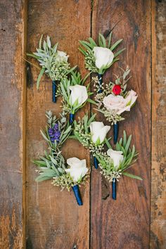 Rose and Eucalyptus Boutonnieres