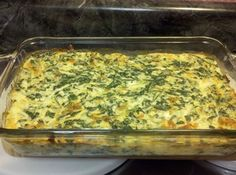 Spinach Casserole (low fat and low carb) Recipe | Just A Pinch Recipes