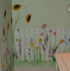 Fun way to paint a laundry room