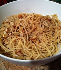 Garlic Pasta...best with spaghetti noodles