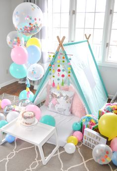 Curating themed tent parties in Denver for the ultimate birthday party or sleepover!