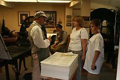 Crandall Historical Printing Museum (a small museum south of BYU in Provo, includes working replicas of Gutenberg, Ben Franklin, and Grandin's presses and knowledgeable, friendly docents)