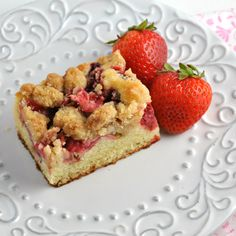 Strawberry Rhubarb Crumb Cake ~ The Way to His Heart
