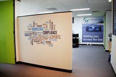 Company values in wall art
