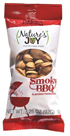 Nature's Joy Smoky BBQ flavored pistachios!