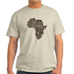 Africa in a giraffe camouflage T-Shirt on CafePress.com