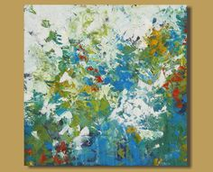 Leah - What do you think about this ? abstract painting abstract floral painting by SageMountainStudio