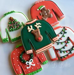Ugly Christmas Sweater Cookies by LizyBsbakeshop on Etsy