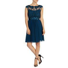 Buy Coast Lori May Short Dress, Kingfisher, 6 Online at johnlewis.com