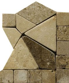 "Natural Stone 4"" x 4"" Pisa Travertine Listello Corner"