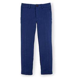 Boys Ralph Lauren Slim Linen Herringbone Pants in Holiday Navy for Eli