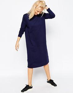 ASOS | ASOS High Neck Midi Sweat Dress at ASOS