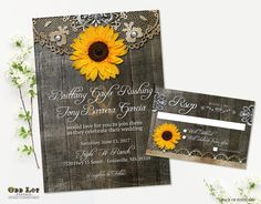 Hey, I found this really awesome Etsy listing at https://www.etsy.com/listing/185144756/rustic-sunflower-wedding-invitations