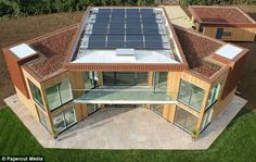 "Eco living: the Leicestershire home that powers itself - ""Traditional rooftop solar panels are joined by more experimental technology including ""solar walls"", which preheat air before it is pumped into the home's ventilation system, and an ""Earth Energy B Building A Container Home, Container Buildings, Container Architecture, Container House Plans, Ideas Cabaña, Led Solar, Solar Roof, Tyni House, Casas Containers"