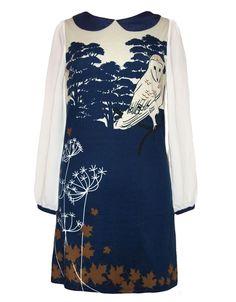 Yumi Owl Print dress navy - Born2Style - Online Fashion Store