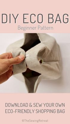 Beginner Sewing Patterns, Bag Patterns To Sew, Sewing Projects For Beginners, Free Sewing, Simple Sewing Projects, Sewing Hacks, Sewing Tutorials, Sewing Tips, Sewing Ideas