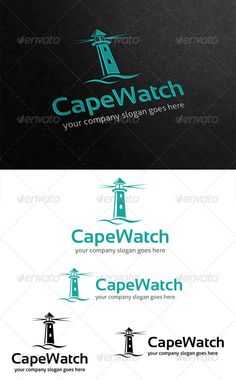 Cape Watch Lighthouse Logo #GraphicRiver Cape Watch is a lighthouse logo, suited for any business that maybe took place at bayside or coast city or town. All in the package : - Ai, EPS, PSD files - CMYK color mode - 100% vector file fully editable - Easy to edit text/fonts Free fonts we use: .dafont /sansation.font .fontsquirrel /fonts/Aller Please rate if you buy and feels free to message me if you need to edit this item. Thank you.. Created: 2May13 GraphicsFilesIncluded: PhotoshopPSD…