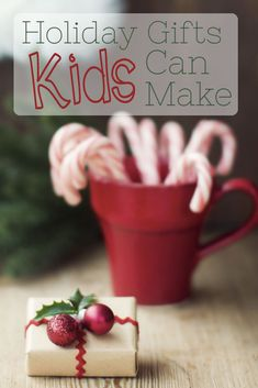 DIY Christmas Gifts Kids Can Make -- Kids love to make their own gifts because it is fun, but it is also actually good for them too. Find out why and then explore this series of DIY Christmas gifts perfect for your youngest crafter.