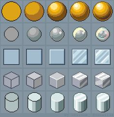 Pixel Animationen/Shapes/Zeichenhilfe Tutorial: How to draw Shiny Materials by on DeviantArt Art Tutorial AnimationenShapesZeichenhilfe DeviantArt Draw Materials Pixel pixel Art tutorial Shiny Tutorial How To Pixel Art, 8bit Art, 8 Bits, Pixel Art Games, S Tattoo, Art Studies, Art Tips, Art Techniques, Game Design