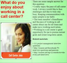 10+ Best Call center interview questions images | interview questions, call  center, job interview answers