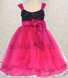 Indian Dresses: Sleeve Less Frock in Pink
