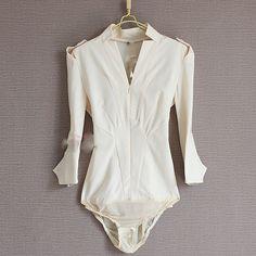 New 2014 Spring Chiffon Body Shirt Fashion Women's Clothing Brand Formal Blouses V-neck Shirts Novelty Ladies Blouse for Women   $32.89