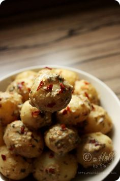 Dahi Aloo Recipe: Baby Potatoes in Creamy Yogurt Gravy - Gluten Free, contains dairy