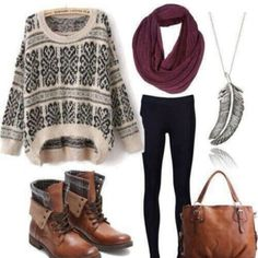 Sweaters leggings and boots | Leggings pattern: the best leggings patterns to shop - Wheretoget